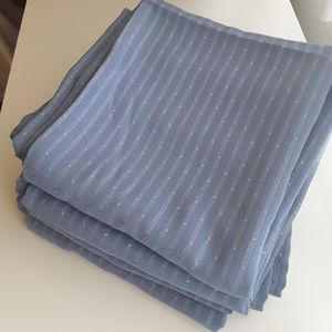 "84"" x 40"" Periwinkle Blue Curtains—4 Panels"
